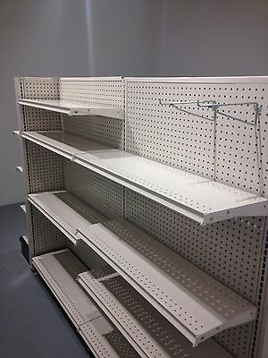 LIKE NEW!!! GONDOLA Shelving 6ft Long Double Run with 2 end caps