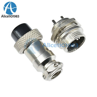 1Pair Aviation Plug 16mm GX16-3 3 Pin Male Female Panel Metal Wire Connector
