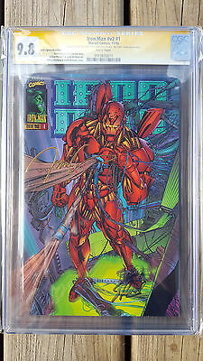 Iron Man v2 #1 - Marvel - CGC SS 9.8  Signed by STAN LEE WP GOLD 1666 on cover