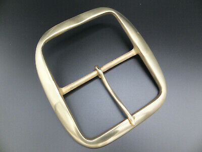 """VERY LARGE SOLID BRASS BRIDLE GIRTH BELT BUCKLE Leather craft [ 4"""" - 100 mm ]"""