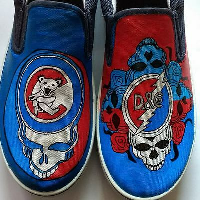 Dead and Company Chicago Cubs Grateful Dead hand painted shoes