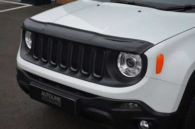 Bonnet Trim Hood Protector Bug Guard Wind Deflector To Fit Jeep Renegade (15+)