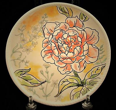 Fitz and Floyd Savannah Home Pink Peony Accent Plate