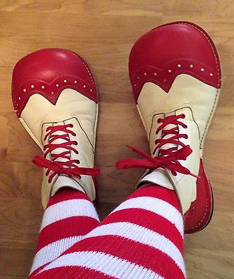 All Leather Custom Made Professional Clown Shoes. Made for Woman Size 8.