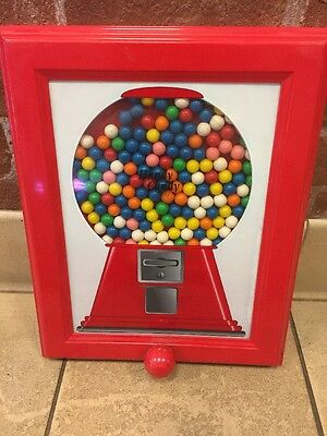 Gumball Handy Candy Frame Dispensing Machine Wall Picture Vintage Refillable