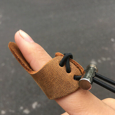 1PC Arrow Shooting Leather Finger Guard Thumb Protect Glove Bow  Archery Hunting