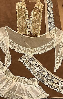 Lot of Vintage Lace From 1910's collars and fichus