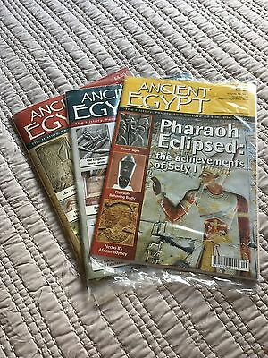 Ancient Egypt Magazine THREE ISSUES  Nos.101/2/3 including latest Edition
