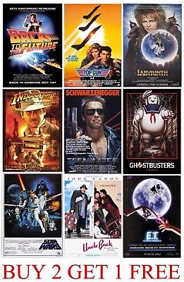 VINTAGE CLASSIC MOVIE POSTERS - A5 - A4 - A3 - HD Retro Art Picture Prints