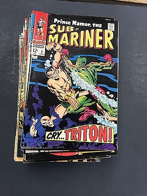 Sub-Mariner Huge Lot 2-72 Silver Age To Bronze All F/vf Some Better See Pics