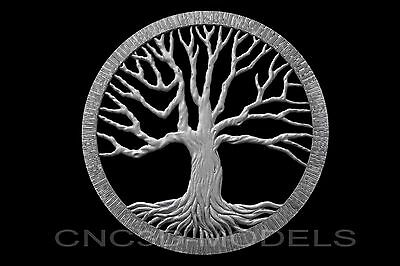 3D Model STL for CNC Router Engraver Carving Artcam Aspire Tree Wood Pano e965