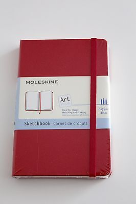 Moleskine Sketchbook Pocket, Red, Hard by Moleskine Hardcover Book