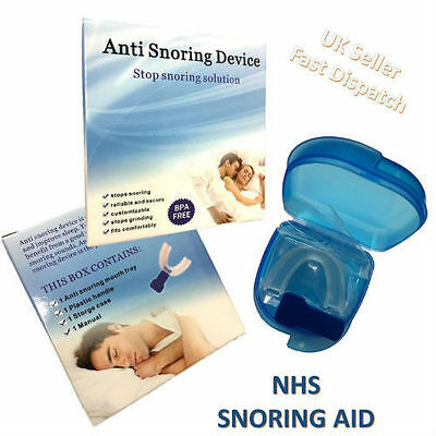 New NHS ANTI SNORE SNORING MOUTH GUARD DEVICE SLEEP AID STOP APNOEA STOP SNORING