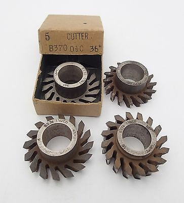 Lot of 4 Vintage USM United Shoe Machinery Steel Leather Shoe Sole Cutters