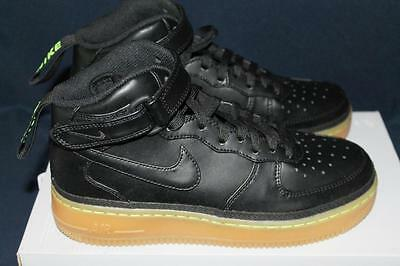 New Nike Youth Air Force 1 Mid Lv8 (Gs) Black Shoes 820342-004 Size 6.5Y