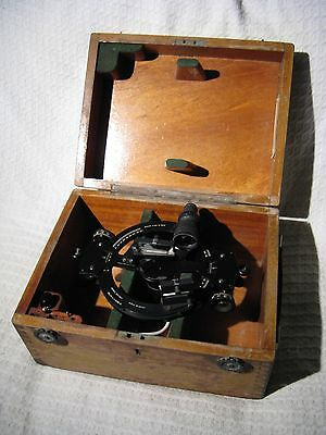 Vintage Kelvin & Hughes Ltd Double Sextant Marine Instrument in Fitted Case