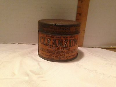 Advertising Tin~Oilzum CLEANZUM Hand Cleaner~White & Bagley Co.  Worcester, MA