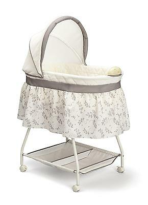 Baby Bassinet Portable Rocking Music Nursery Crib Cradle Sleeper
