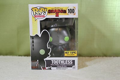 Funko Pop! Vinyl How to Train Your Dragon Toothless Metallic *Box has Issues*