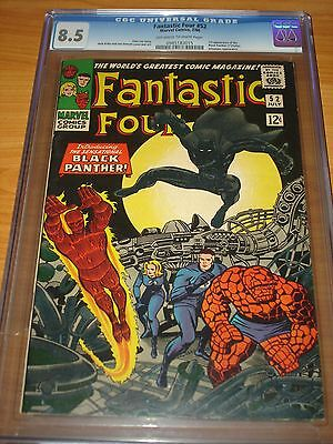 FANTASTIC FOUR #52 - CGC 8.5 VF+ (1st App. of the Black Panther ; OW/W Pages)