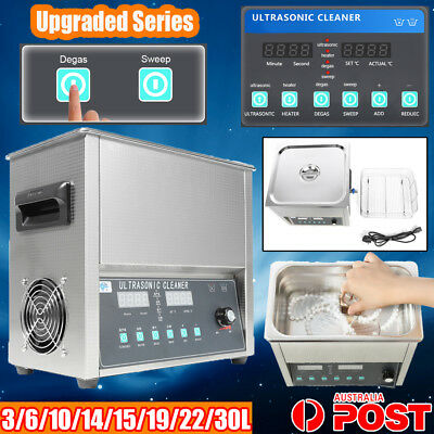 Upgrade Digital Ultrasonic Cleaner Heater Timer Industrial Sweep Degas Clearance