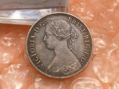 1861 Great Britain Farthing Higher Grade #AA