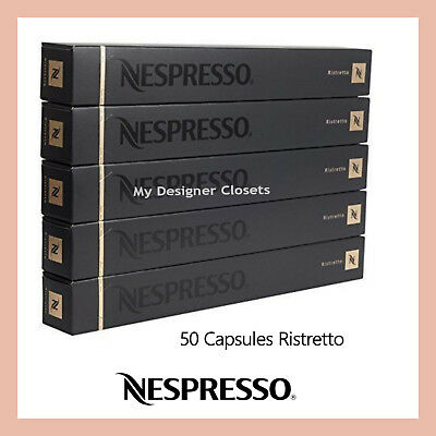 50 Capsules Nespresso Coffee Ristretto Pods (Powerful Contrasting) Intensity 10