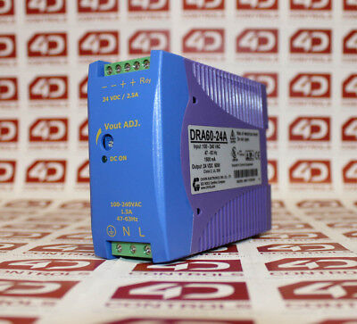 Lutze DRA60-24A POWER SUPPLY DINRAIL MOUNTABLE 60W 24VDC - Used