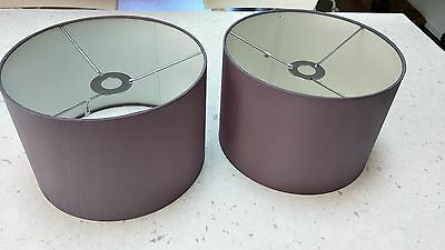 Great pair of grey/silver lamp shades from Domayne