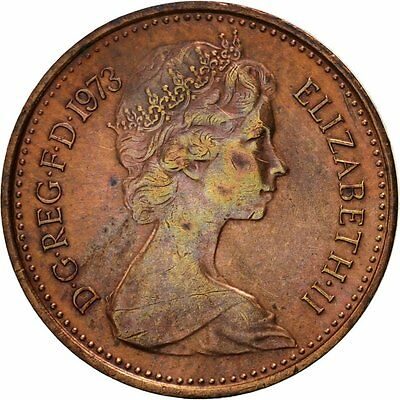 [#419122] Great Britain, Elizabeth II, 1/2 New Penny, 1973, EF(40-45), Bronze