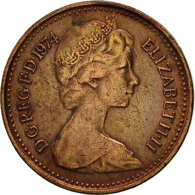 [#419123] Great Britain, Elizabeth II, 1/2 New Penny, 1974, EF(40-45), Bronze