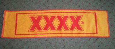 Very old but unused towelling bar runner  XXXX       100cm long