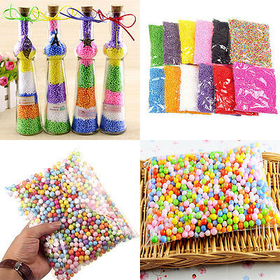 Polystyrene Styrofoam Plastic Foam Mini Beads Ball DIY Assorted Colors Craft