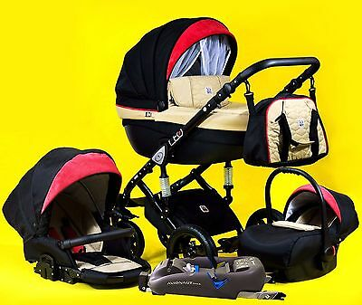 Stroller DP Leo Sp 3,4 in 1 Pram Pushchair Buggy Car Seat Base ISO Travel system