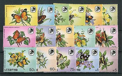 Lesotho QEII 1984 Butterfly set of 16 SG563/78 MNH