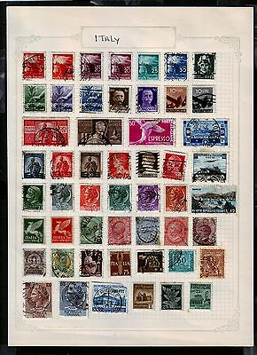 Italy  Selection of 169, used.