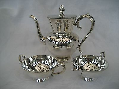 NORWEGIAN SILVER BACHELOR TEA SET - J Tostrup, Oslo