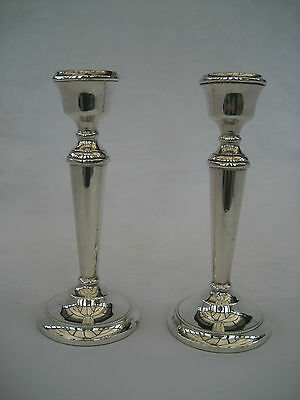 PAIR OF SOLID SILVER CANDLESTICKS - A T Cannon,1972.