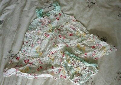 baby girls next summer dress and knickers 12-18 months