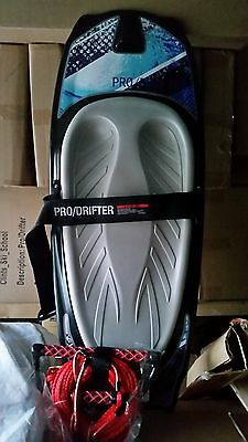 kneeboard CSS prodrifter grey pad  with cover+15 inch t-bar rope