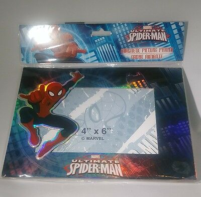 "Marvel Ultimate Spider-Man - Magnetic Picture Frame 4"" X 6"" 3D Colorful - NEW !!"