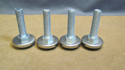 "MACHINE LEVELING FEET 1/2""-13UNC x 2-3/4"" TALL PADS 1 5/8"" DIA. LOT OF 4 NOS"