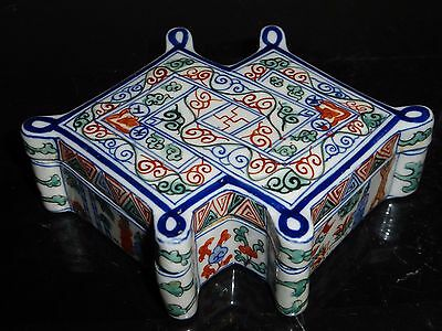 Antique Fine And Rare Ming Dynasty Wanli Covered Box Six-Character Blue Mark