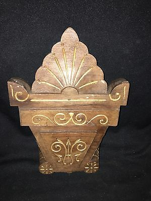 "1930's 11 7/8"" Carved Wood Pediment"