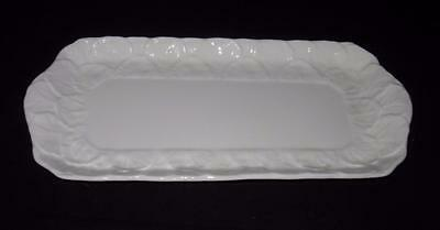 Coalport Bone China, COUNTRYWARE, White Embossed Leaves, Large Sandwich Tray