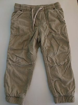 Baby Boy Girl H&m Trousers 18-24m Pant Pull On Beige