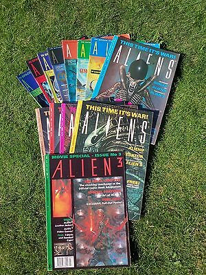 Collection Of 13 ALIENS Comics. VGC