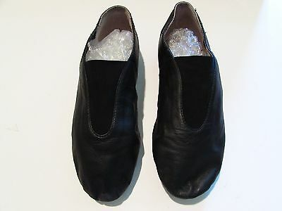 Ladies Bloch Black Leather Dancing Shoes Size 6 1/2 Very Good Condition