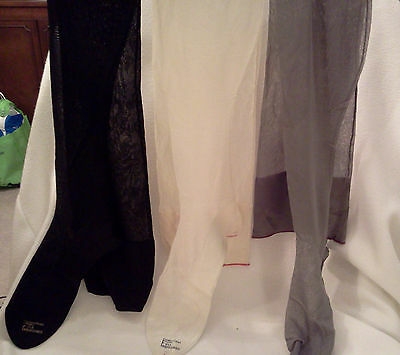 Vintage Womens Pure Silk Stockings Early 1930s  Sz 9.5,multiple colors, NOS