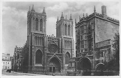 POSTCARD   BRISTOL  Cathedral  &  Norman  Tower